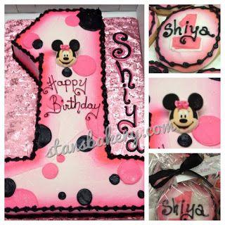 Brilliant Minnie Mouse First Birthday Cake Minnie Mouse First Birthday Funny Birthday Cards Online Alyptdamsfinfo