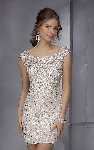 Abiye Elbise Beyaz Kisa Kolsuz Komple Cam Kesme Tas Islemeli Elbise Payet Elbise Elbiseler