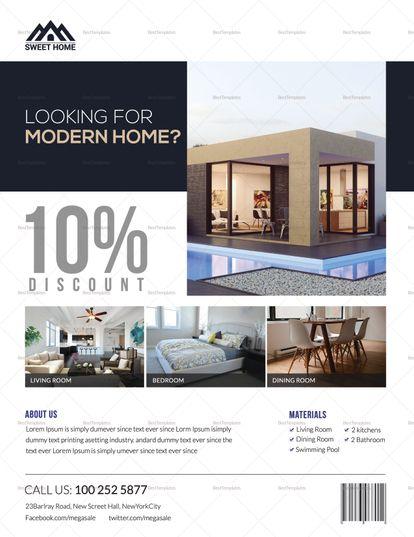 Modern Home Sale Flyer Template | Design Flyer Templates | Pinterest ...