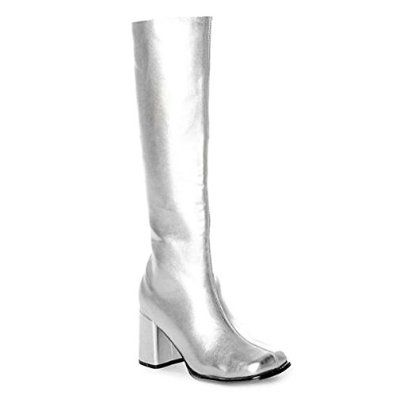 8d71d3d6b55e7 Amazon.com: 3 Inch Women's Sexy Gogo Boots Knee High Single Sole ...