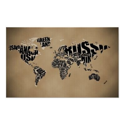 Typographic world map poster typography poster typography and spaces typographic world map poster gumiabroncs Images