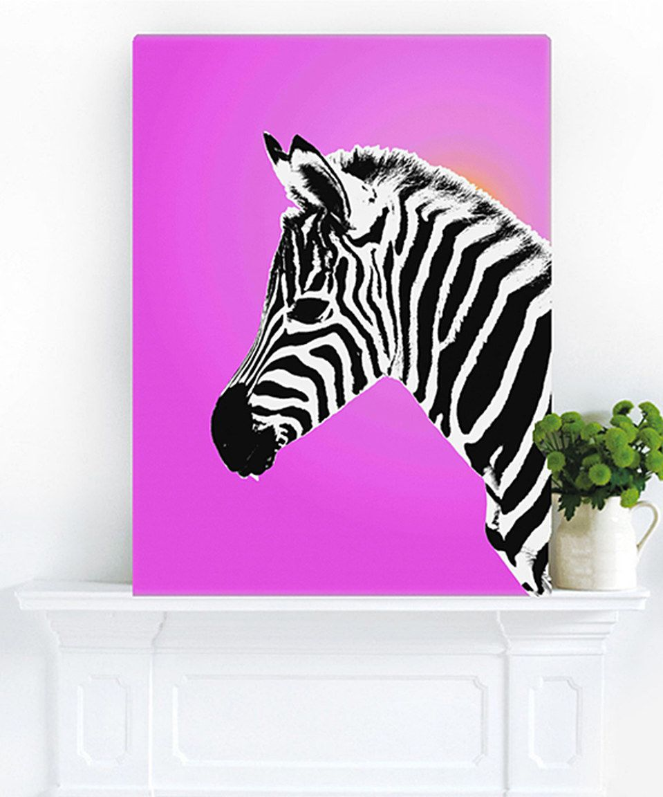 Look at this #zulilyfind! Gleaming Zebra Left Wrapped Canvas by Palm Valley #zulilyfinds
