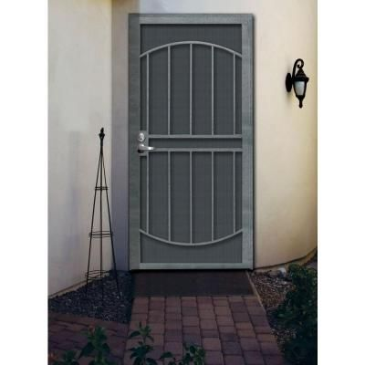 Unique Home Designs 32 In X 80 Arcada Silverado Surface Mount Outswing Steel Security Door With Expanded Metal Screen Idr06400322126 The Depot