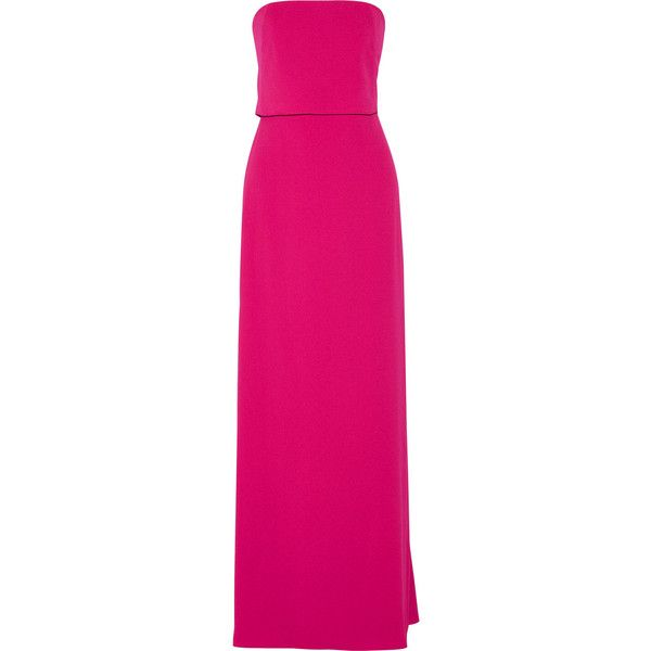 Halston Heritage Strapless stretch-crepe gown ($425) ❤ liked on ...