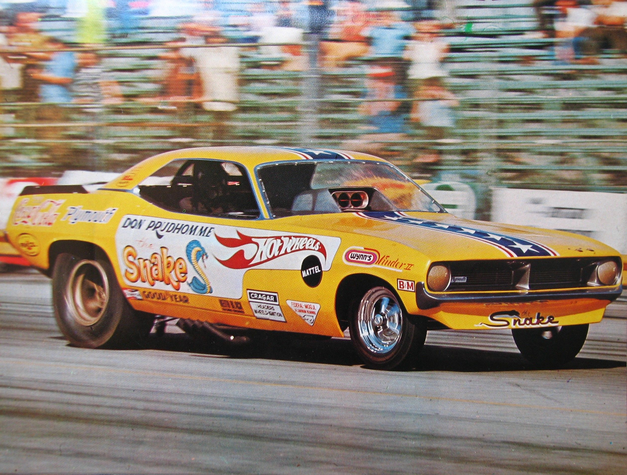 Drag race car paint schemes - Don The Snake Prudhomme Plymouth Barracuda Aa Fc Funny Car