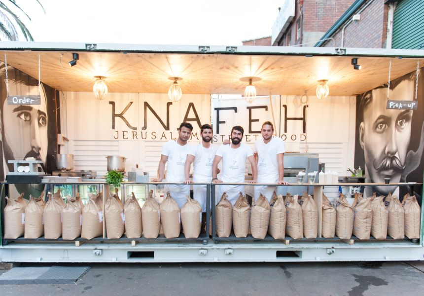 A bakery for knafeh food truck festival chocolate
