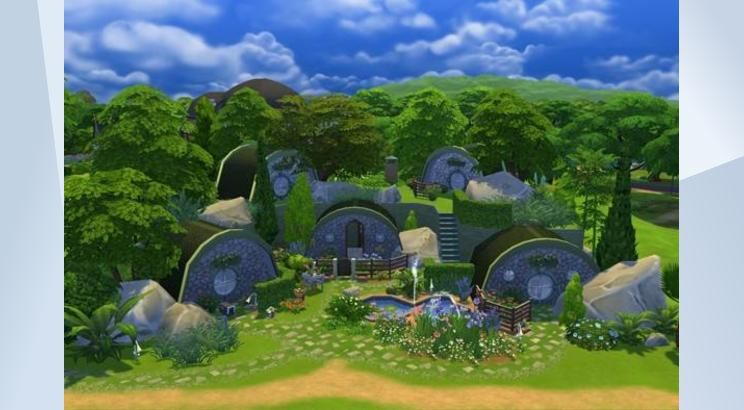 Check out this lot in The Sims 4 Gallery! - Here is my design of a hobbit style home. Enjoy. #hobbit #nocc #fairytale