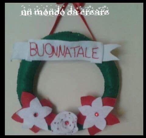 Photo of Ghirlanda fuori porta in pannolenci