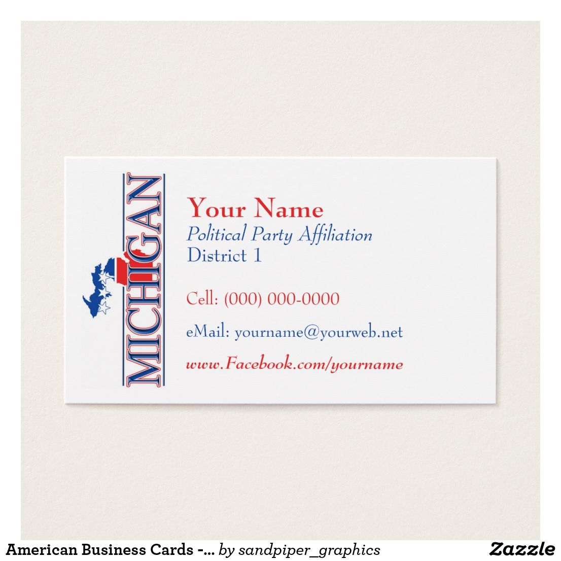Business Cards - Michigan