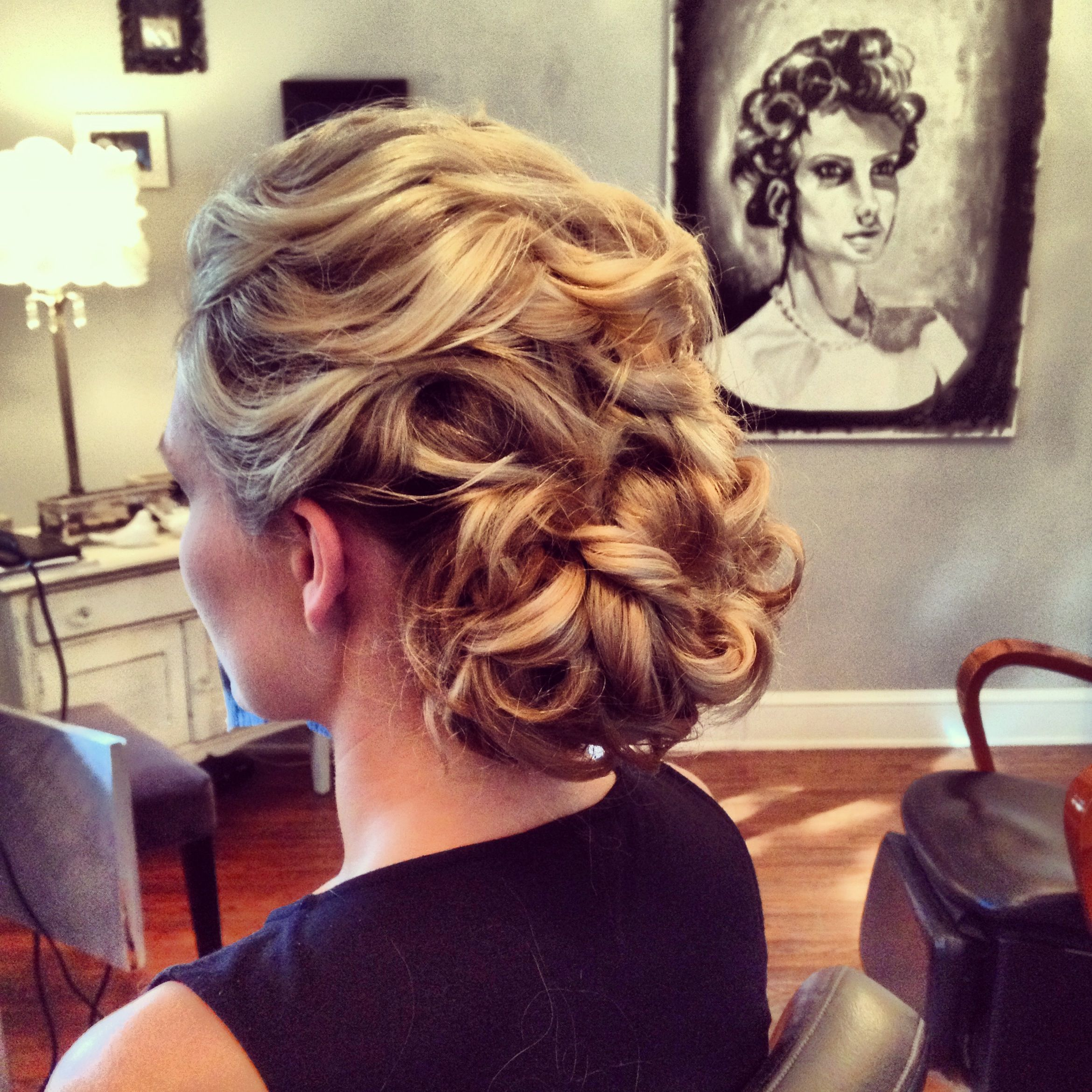 wedding hair idea. romantic bridal updo by ash and co. charleston
