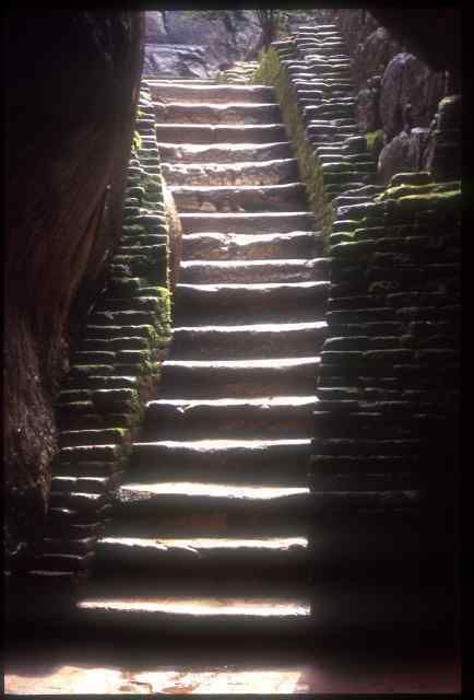 Sigiriya rock steps
