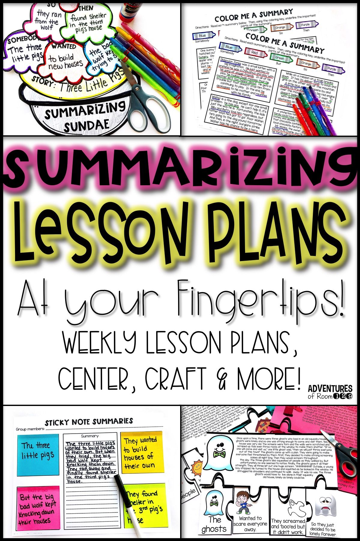 Summarizing Activities And Printables
