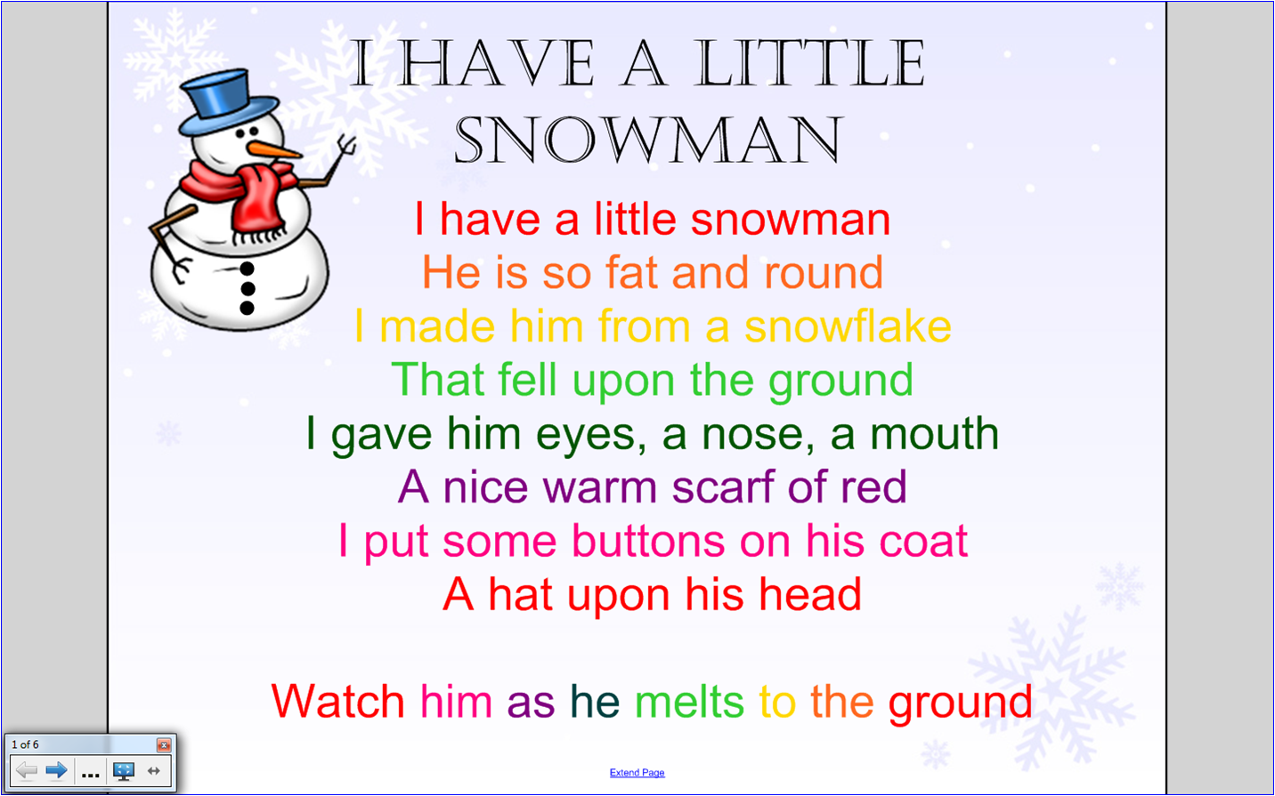 Snowman Song Up And Down The Scale Using The Boomwhackers