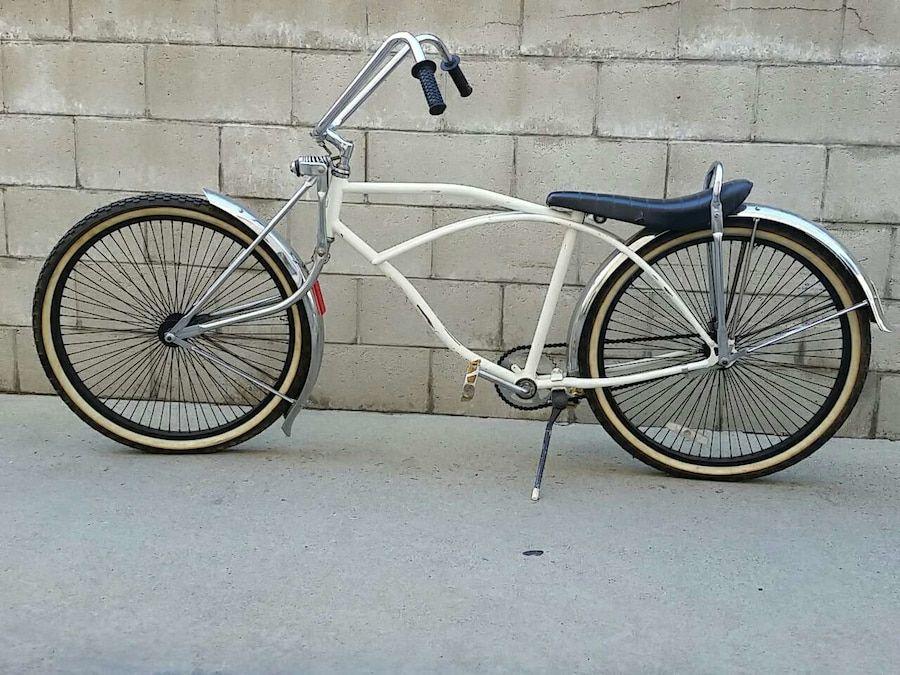 Lowrider Bike HANDLEBAR frame Chrome Light Bracket CHOPPER beach CRUISER bicycle