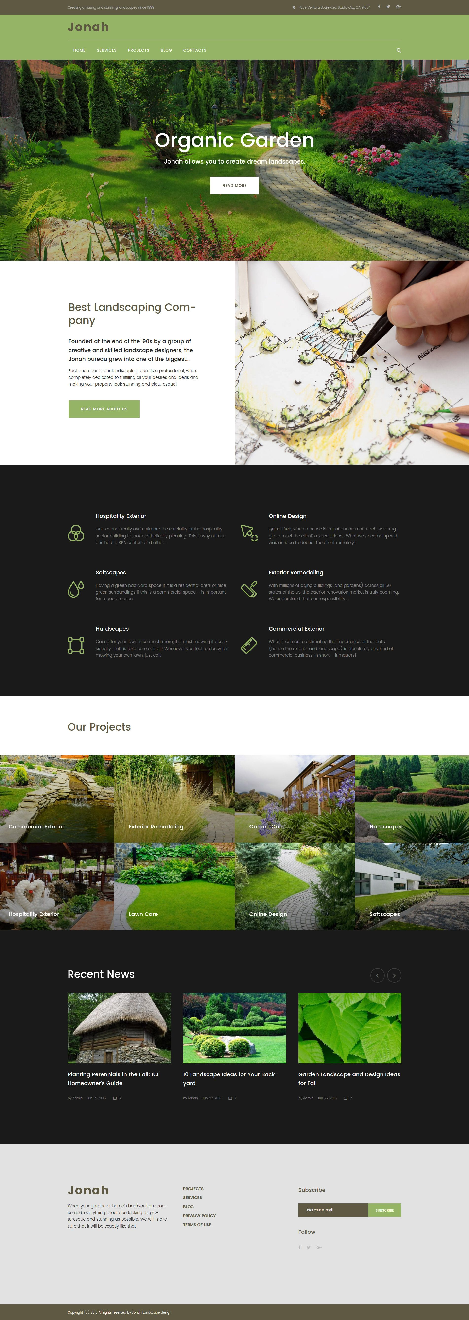 Jonah  Landscape Design and Lawn Mowing WordPress Theme is part of lawn Design Layout - 7 tech support  The service is free and available for a lifetime