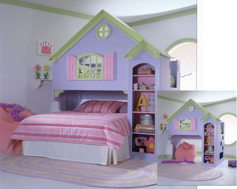 Loft Bed   Discovery Dollhouse Loft Bed From The