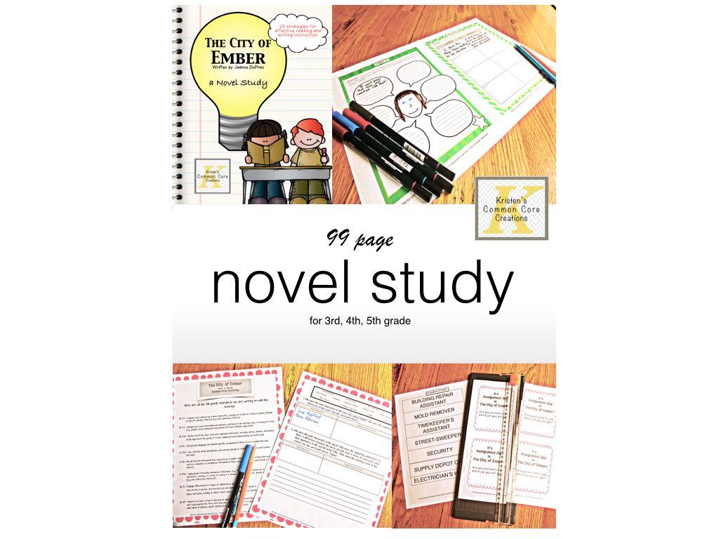 City Of Ember Novel Study Unit Questions Activities