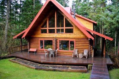 Beau Alaskan Log Home In Girdwood, Alaska.