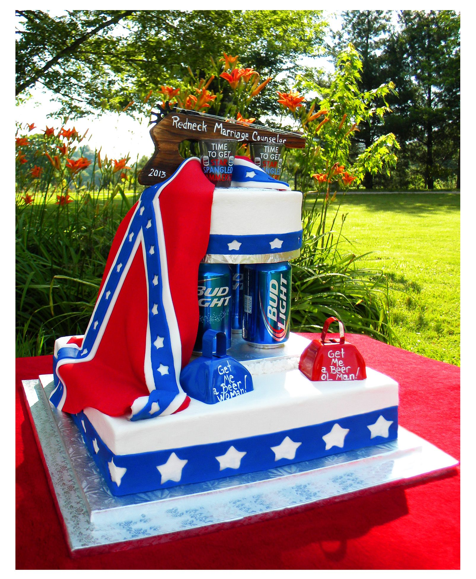 Redneck Wedding Cake Minus The Bud Light And Add Copies