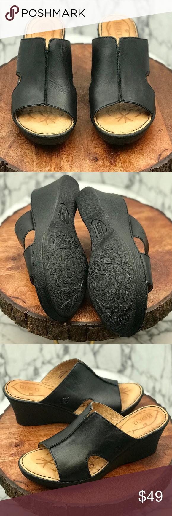 407da22bffc Born Bernt Women s Wedge Shoes Size 8 Born Bernt Women s Wedge Shoes -  Condition  Used     Excellent Condition     - Size  8 - Color  Black   Pet    Smoke ...