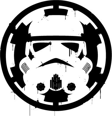 Star wars storm trooper over empire sticker vinyl decal car laptop window oracal