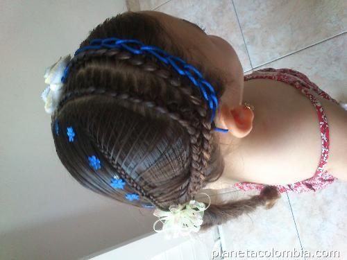 Peinados con cintas para ni as en barranquilla trenzas - Trenzas para nina ...