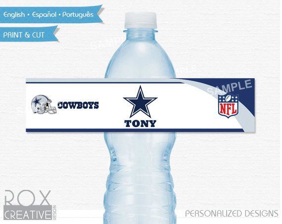 Dallas Cowboys Party Water Labels Printable Labels