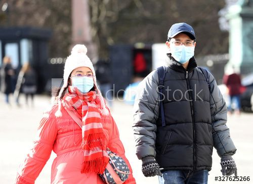 People wearing masks walk at the castle esplanade in Edinburgh, Scotland , #AD, #masks, #walk, #People, #wearing, #Edinburgh #Ad