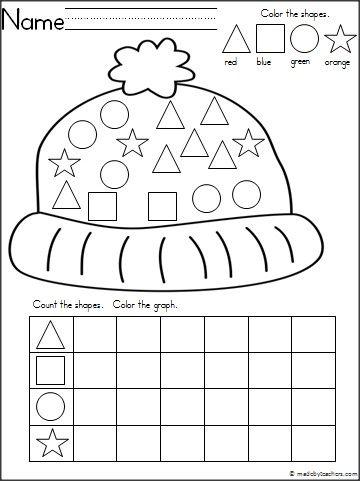 Hat Shapes Graph   hair care   Kindergarten, Kindergarten books ...