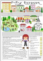 english worksheet my town exercises english lesson plans worksheets my town. Black Bedroom Furniture Sets. Home Design Ideas