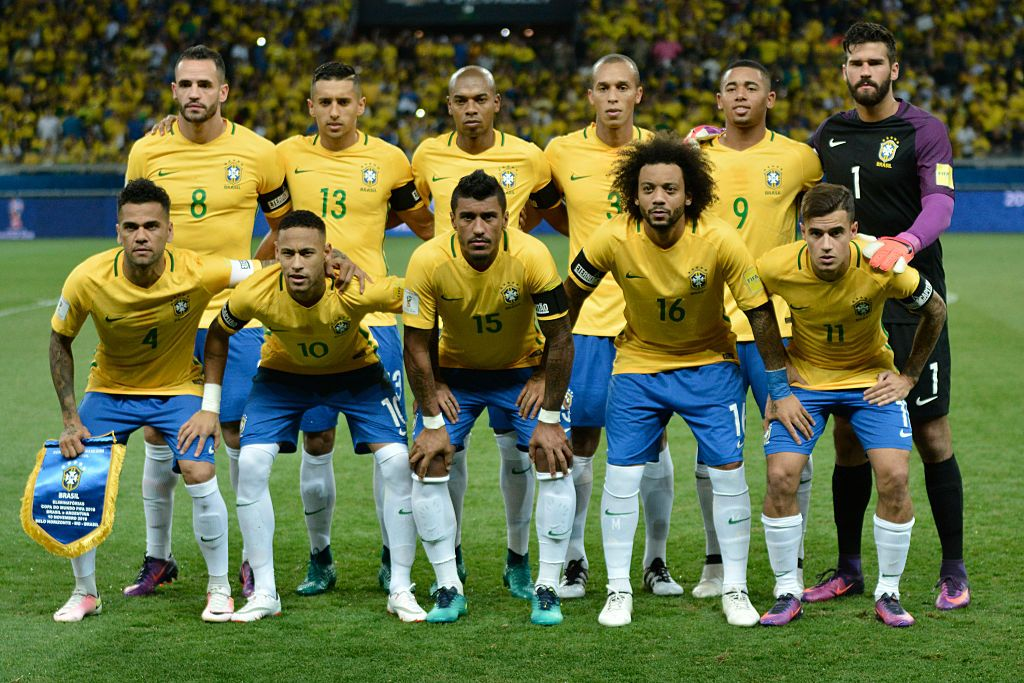 Players Of Brazil Pose For A Team Picture Prior A Match Between Team Pictures Argentina World Cup Fifa