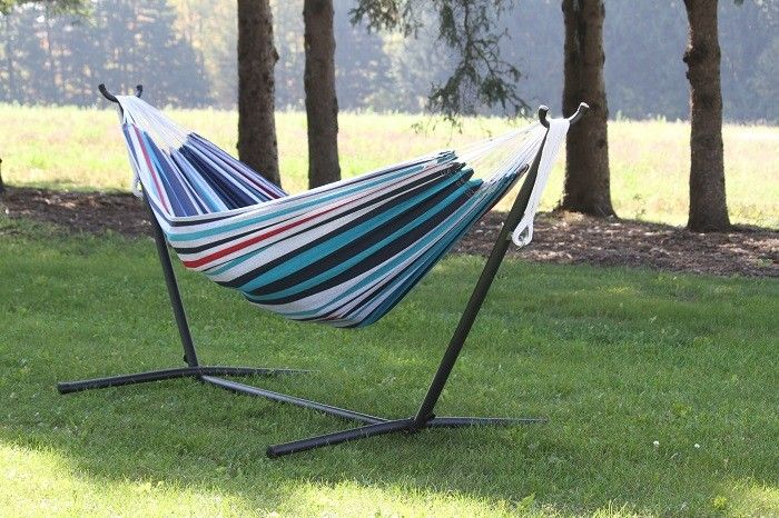 bo   double cotton hammock w  stand several colors available free shipping   bo   double cotton hammock w  stand several colors available      rh   pinterest