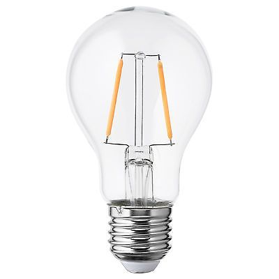 Ikea lunnom clear glass 100lm warm white e27 screw led - Ikea led e27 ...