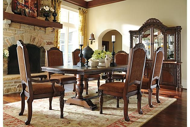 North Shore Table And Base Ashley Furniture Dining Dining Room Table Set Dining Room Sets