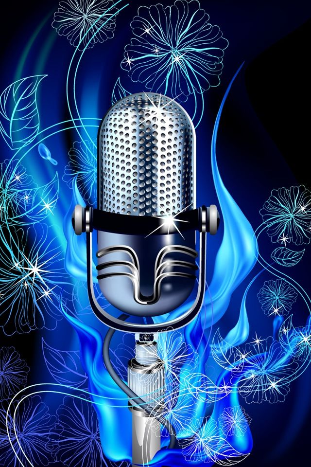 Condenser Microphone Vector Music Wallpaper Music Backgrounds Music Images