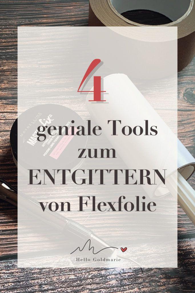 vier geniale Tools zum Entgittern von Flexfolie #plotterliebe #entgittern #plotten #silhouettecameo #cricutmaker