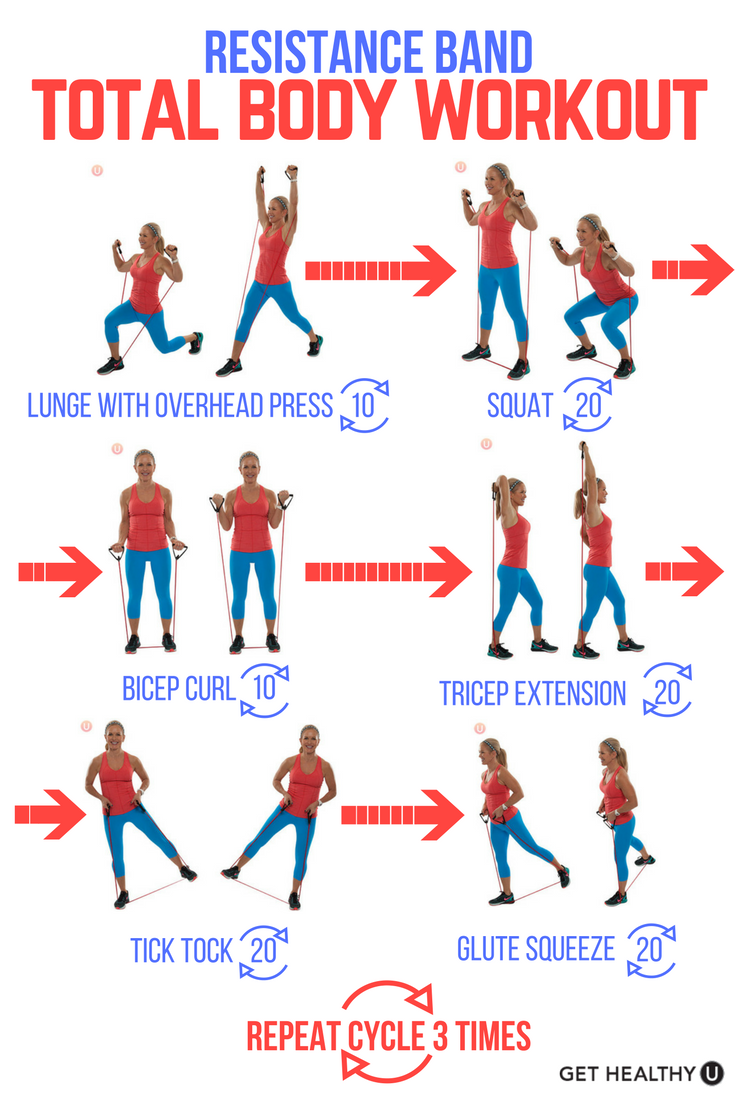 No gym no excuses use a resistance tube and try this total body no gym no excuses use a resistance tube and try this total body tone fandeluxe Images