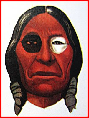 a257610b1 Cherokee tribe, white symbolizes peace and happiness, the black death, red  success, here is the tribal war paint. Blue was considered the color of  defeat ...