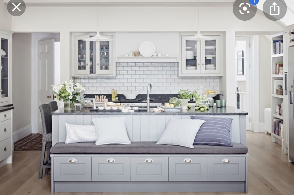 Pin By Jacqueline Quann On Kitchen Design In 2020 Kitchen Island With Bench Seating Kitchen Island With Seating Kitchen Style