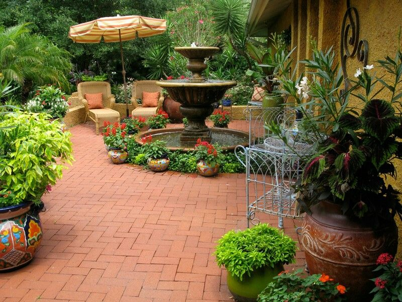 Courtyard landscaping design | Courtyard landscaping ... on Mexican Backyard Decor  id=28514