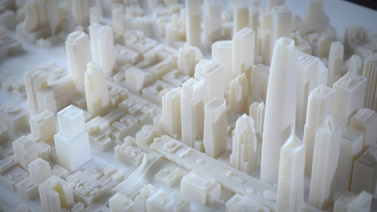 3D Printed Architectural Model   Future Skyline Of San Francisco   Autodesk    Scale 1:1250 | Architectural Models | Pinterest | Architectural Models,  ...