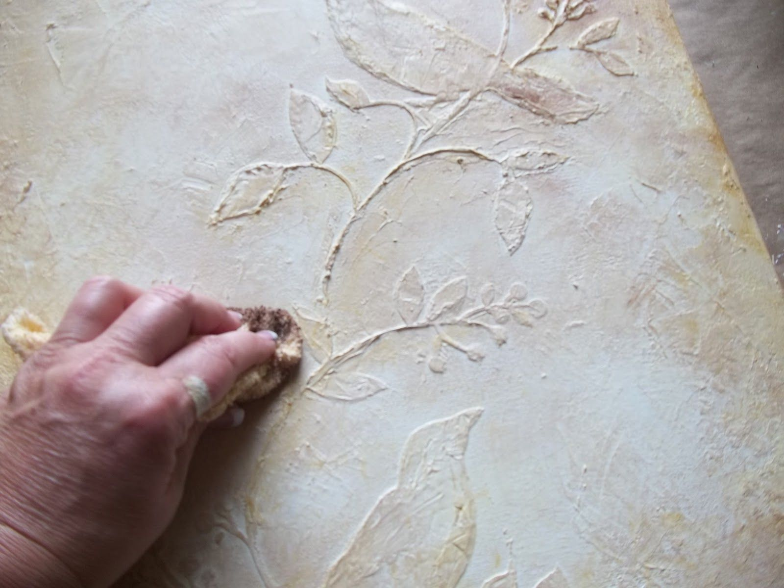 Modeling Paste On Canvas Painting Lifesimply Modeling Paste Tutorial Plaster Art Art Friend Modeling Paste
