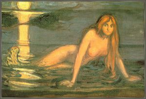 Mermaid (The Lady From The Sea) - (Edvard Munch)