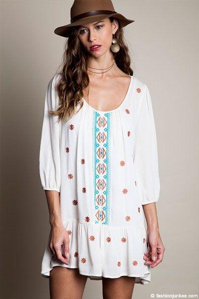 Drop Waist Tunic Dress