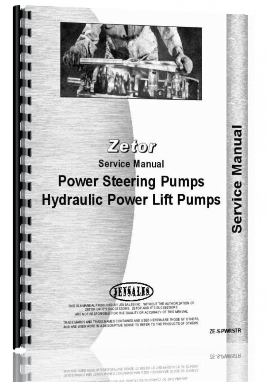 Zetor all 5211-7745 Steering & Hyd Pumps Service Manual