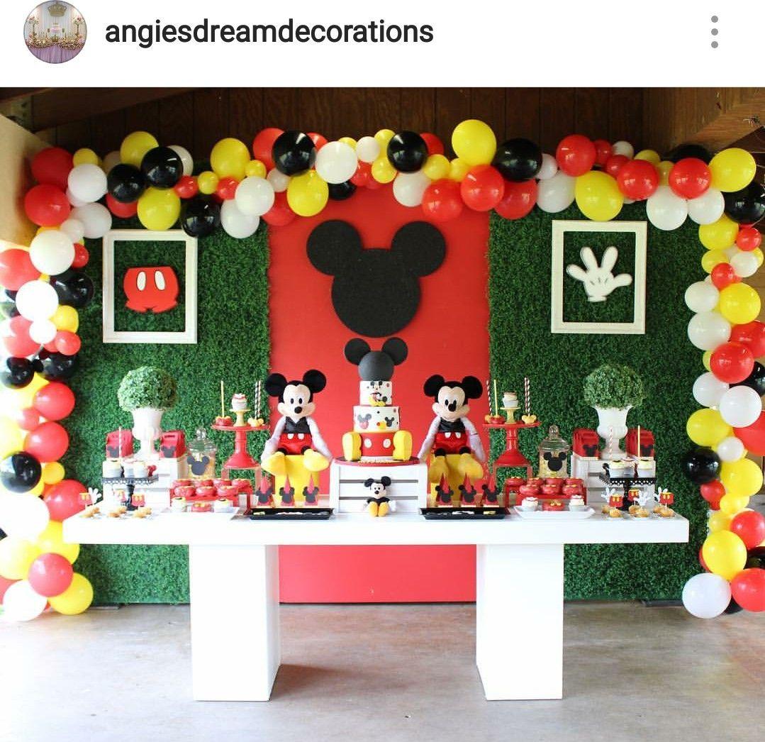 Mickey Mouse Theme Birthday Party Dessert Table Mickey Mouse Clubhouse Birthday Party Decorations Mickey Mouse Birthday Decorations Mickey Mouse Birthday Theme