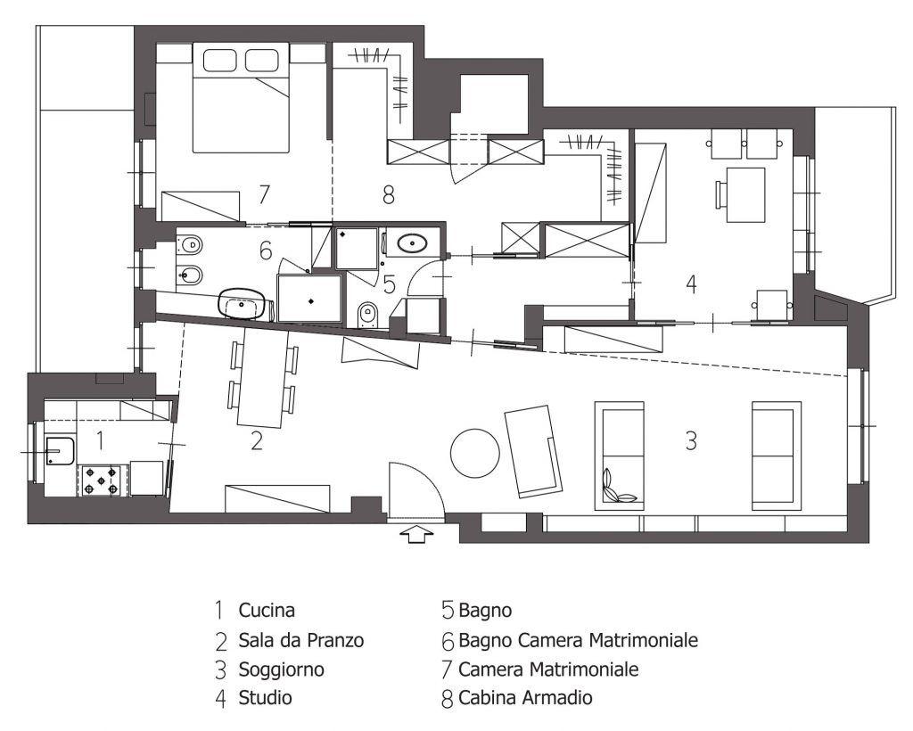 Casa sebastopoli progetto studio architettura d 39 interni for Software architettura interni