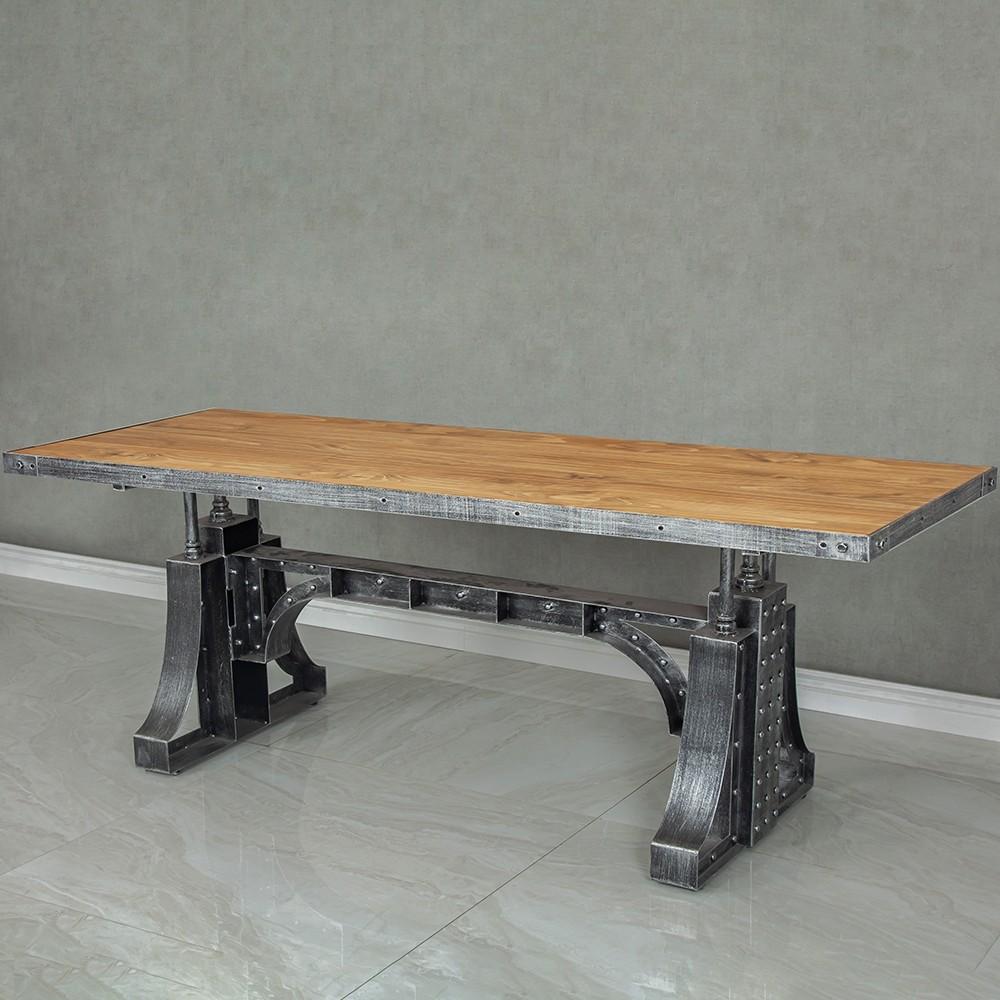 Industrial 55 63 Office Desk Executive Desk With Solid Wood Top Bridge Base In 2021 Executive Office Desk Executive Desk Wooden Desk