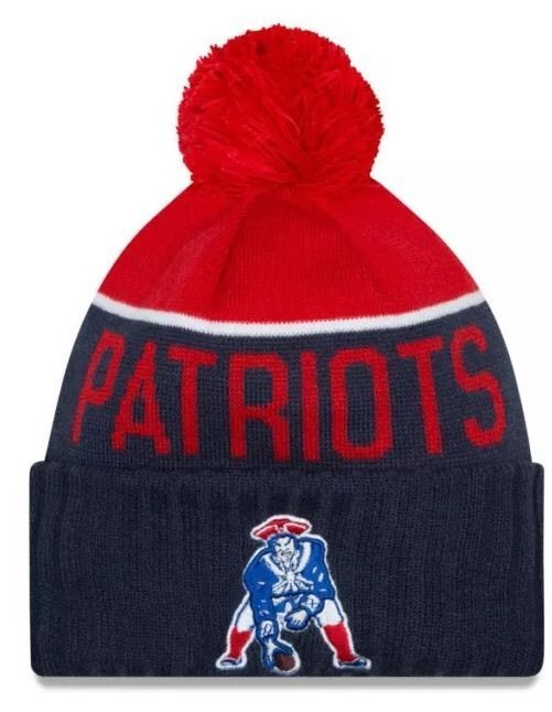 New England Patriots Beanie Cap Sport Knit Throwback Hat 2015 Pom Patriots New England Patriots Nfl Hats
