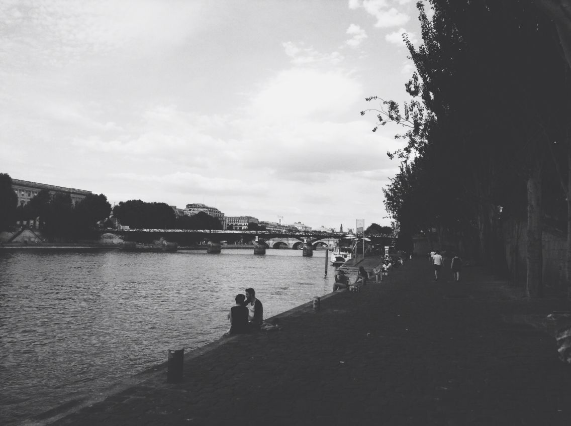 Hanging out by the seine in the beautiful city of Paris :)